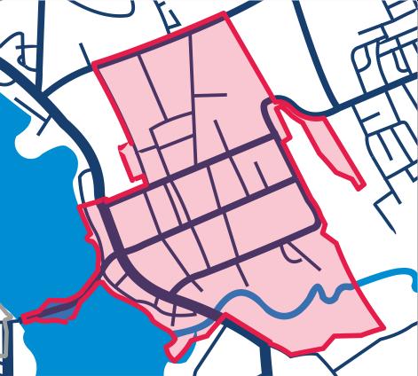 Mapa obszaru rewitalizacji