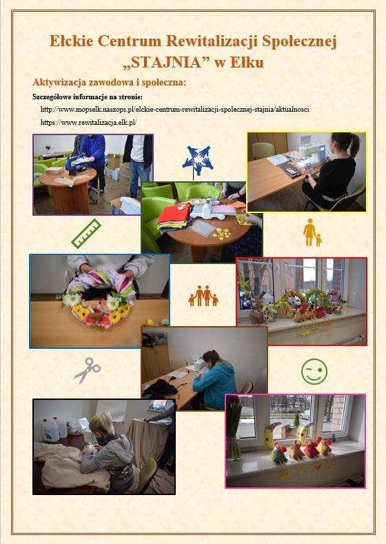 Plakat informujący o działnosci ECRS Stajnia w Ełku